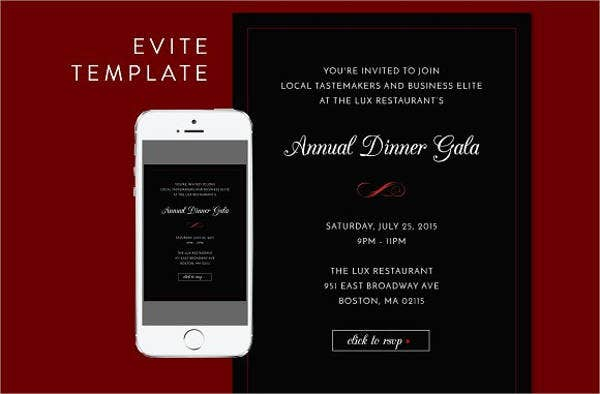 Dinner Invitation Templates – Business Invitation Templates