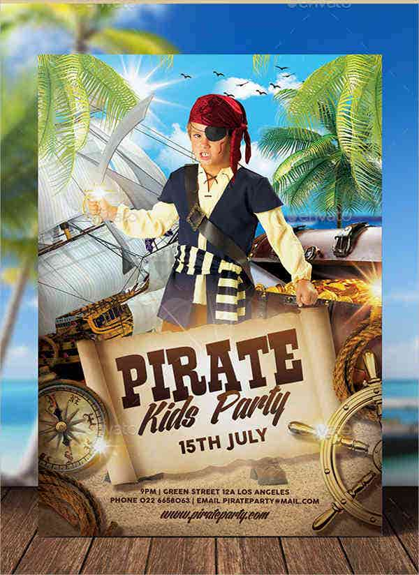 printable pirate birthday party invitation