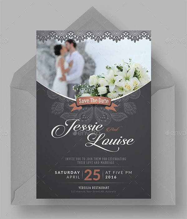 printable wedding reception party invitation