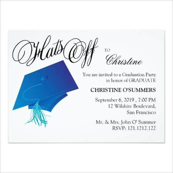 college graduation dinner invitation1