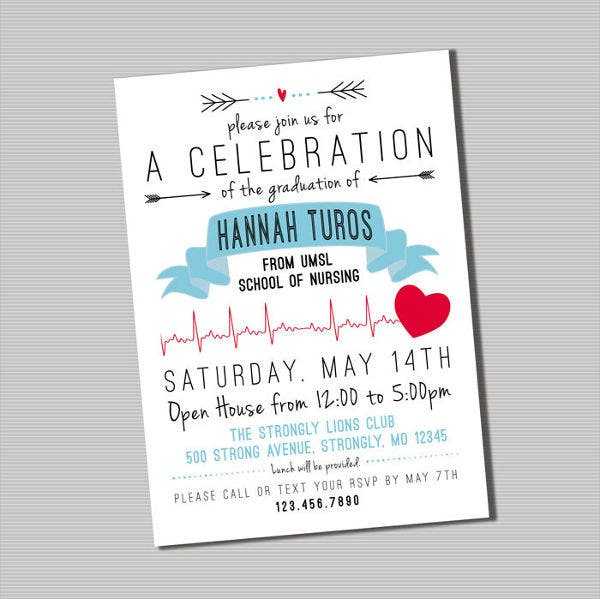 100+ [ Nursing Graduation Invitation Templates ...