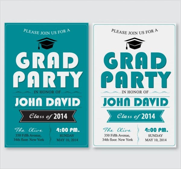free printable graduation party invitation