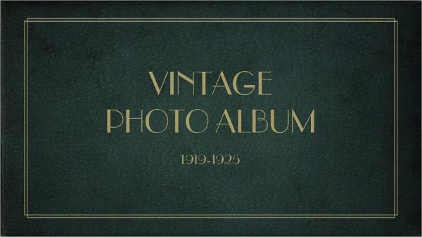 vintage album template