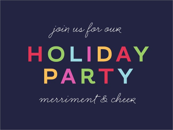 free printable holiday party invitation