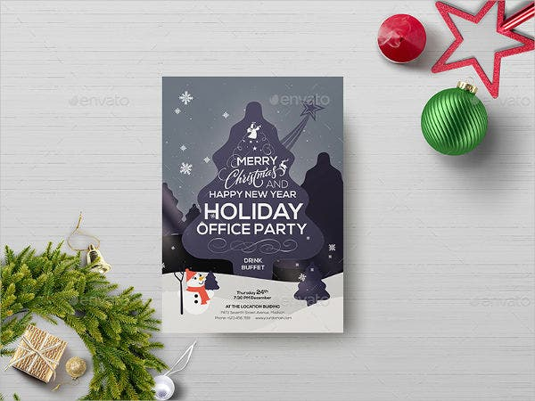 printable office holiday party invitation