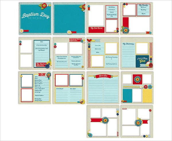 baptism album template