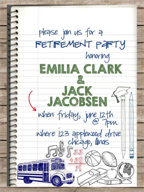 printable teacher retirement party invitation