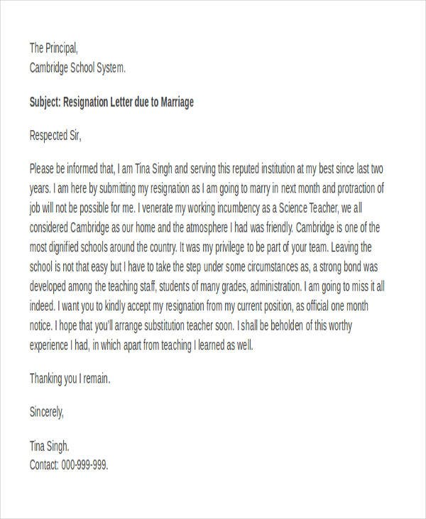 Letter for resignation format altavistaventures Images