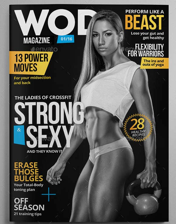 Fitness Magazine Cover Template