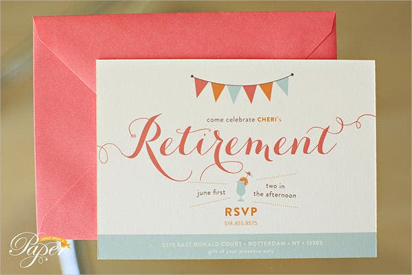 free printable retirement party invitation