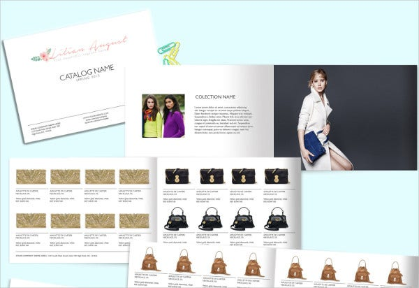 Fashion Catalog Template PSD