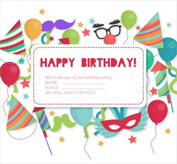 Birthday Invitation Designs Free Premium Templates - Happy birthday invitation card design