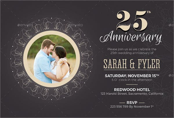 printable wedding anniversary party invitation1