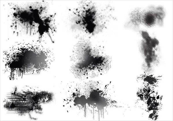 splatter-halftone-vector