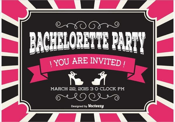 free printable bachelorette party invitation