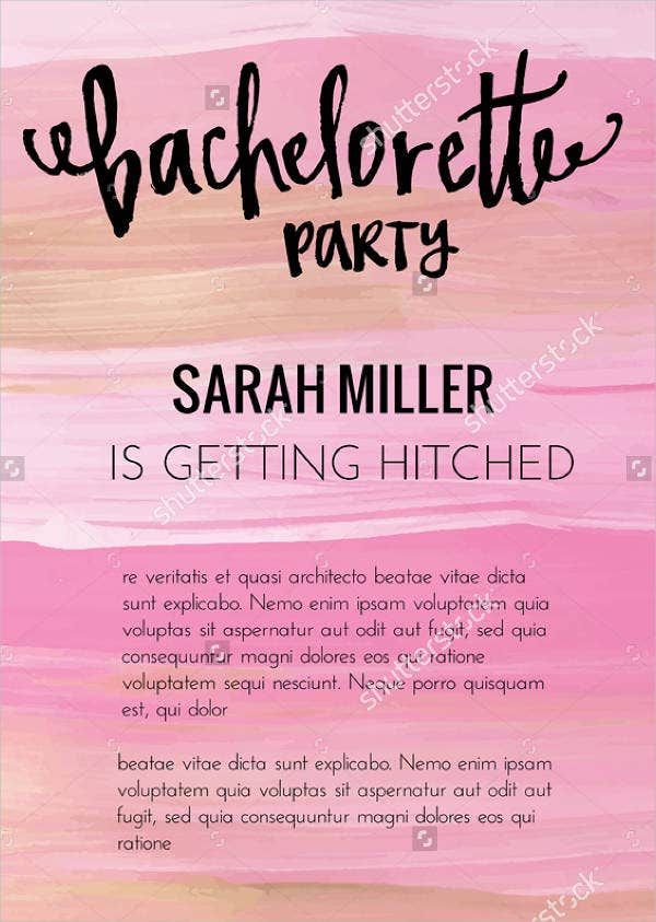 Printable party invitation templates free premium templates printable sample bachelorette party invitation stopboris