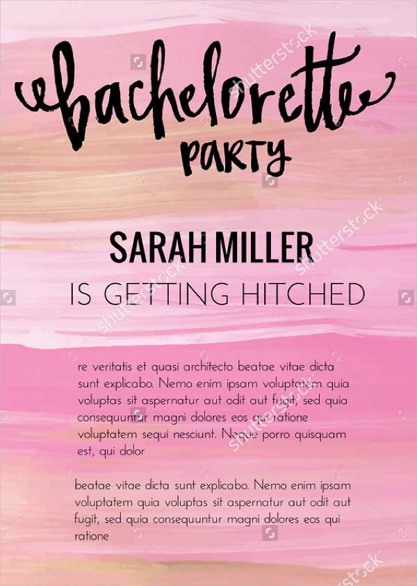 Printable Sample Bachelorette Party Invitation
