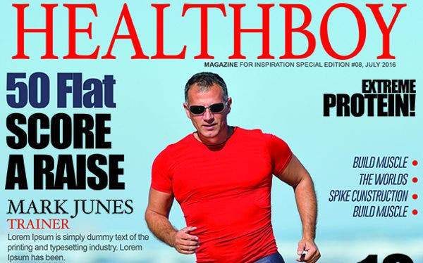 health magazine cover template