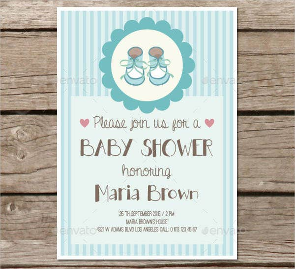 printable baby shower party invitation card