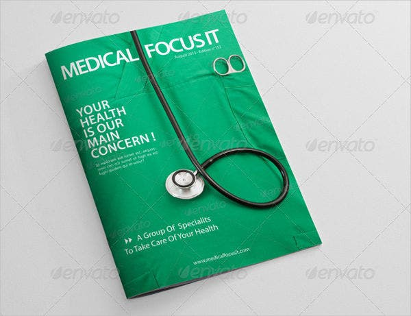 health and medial magazine template