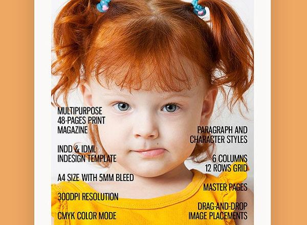 multipurpose health magazine template