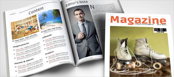 a5 health magazine template