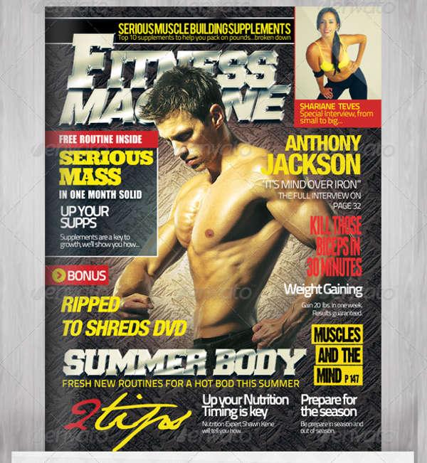 fashion fitness magazine template