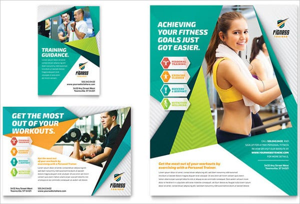 Fitness Magazine Ad Template