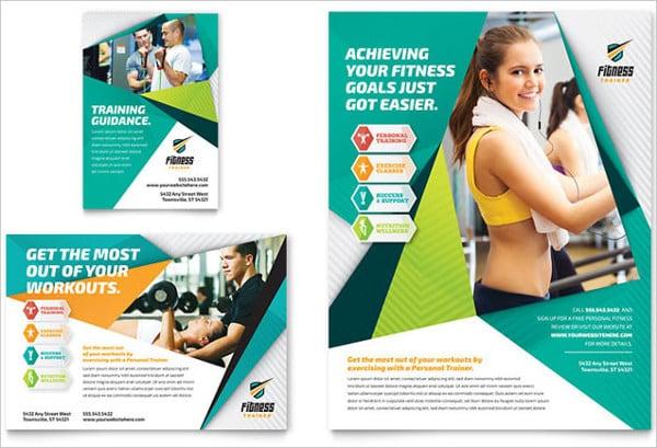 fitness magazine ad template