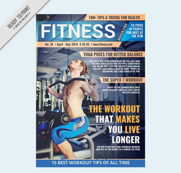 fitness sports magazine template