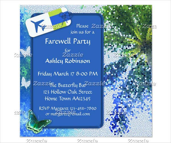 printable farewell party invitation card