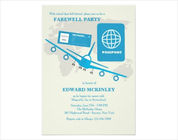 printable sample farewell party invitation