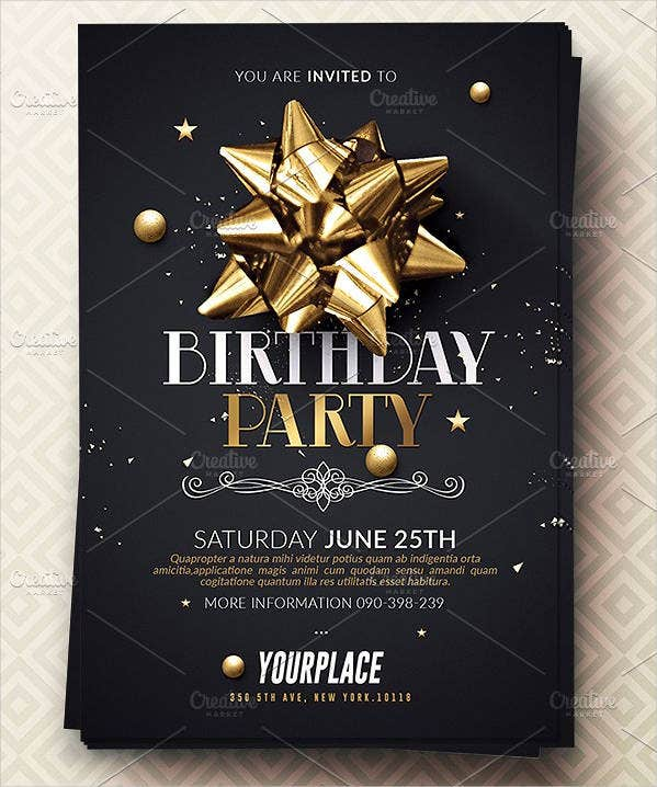 printable birthday party invitation card template1