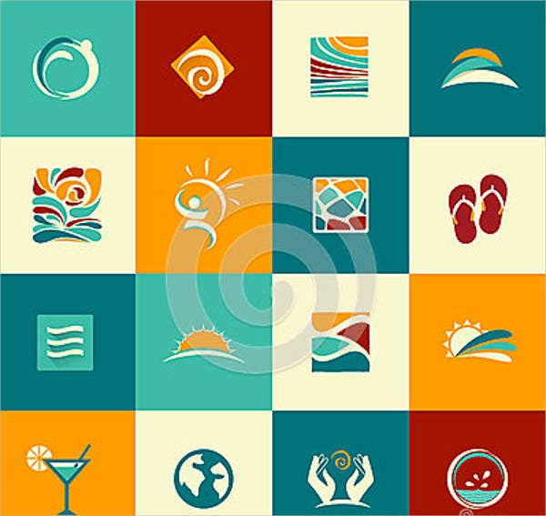 abstract-summer-icons