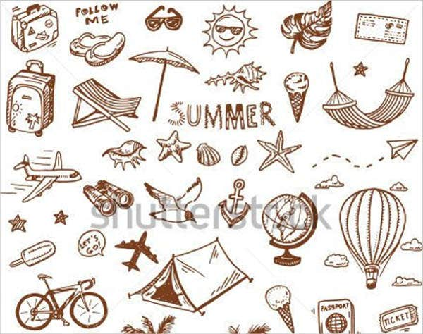 hand-drawn-summer-icons