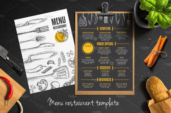 Food Menu Restaurant Flyer