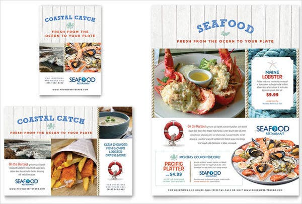 Seafood Restaurant Flyer