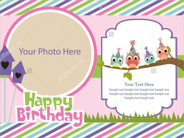 Vector Birthday Invitation Card