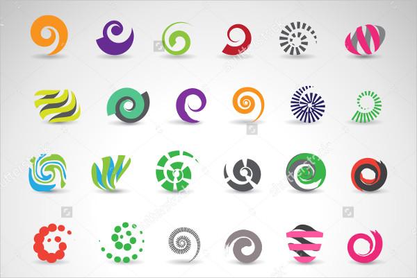 vector spiral logo