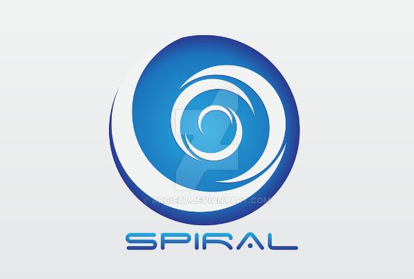 blue spiral logo
