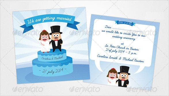 funny personal wedding invitation