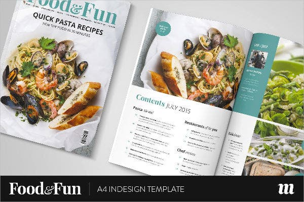 food fun magazine template