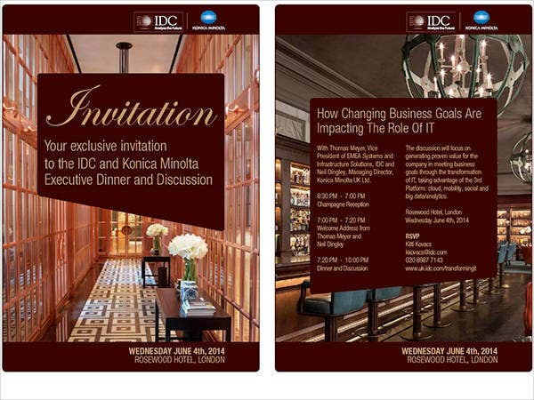 Dinner invitation templates free premium templates business dinner meeting invitation stopboris Images