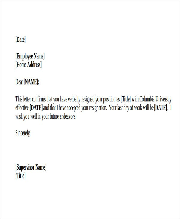 42 Resignation Letter Template In Doc Free Amp Premium