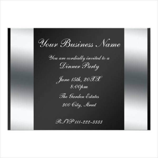 professional business dinner invitation3