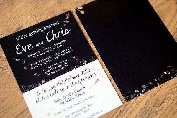 Autumn Themed Wedding Invitations