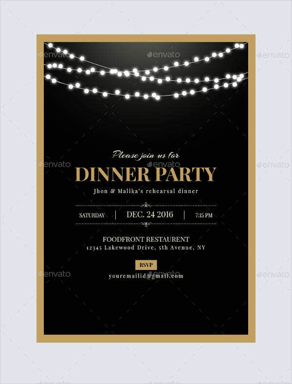 dinner invitation templates free premium templates. Black Bedroom Furniture Sets. Home Design Ideas