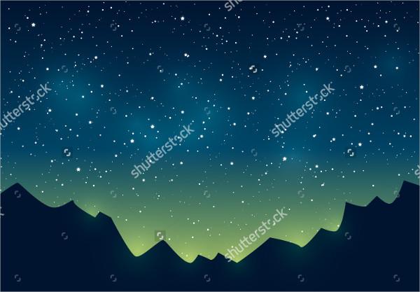 Starry Sky Vector
