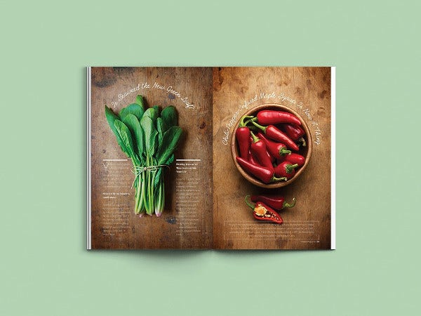 food indesign magazine template