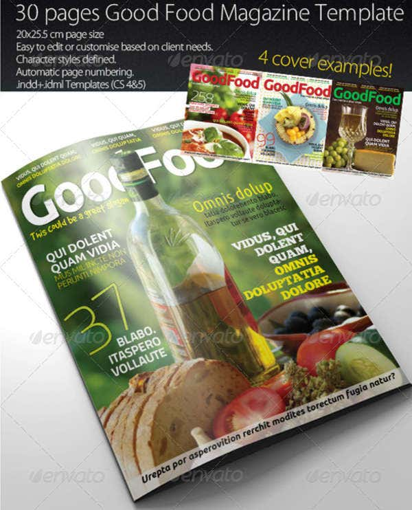 Good Food Magazine Template
